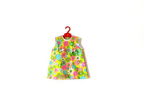 Vintage Pastel 1960's Floral Patterned Dress 2-3 Years