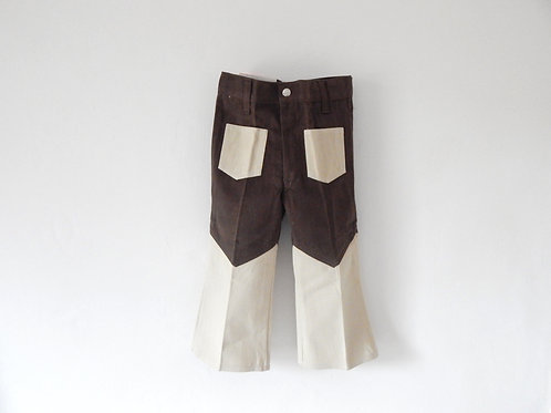 Vintage 1970's Denim Flares Brown 3-4 Years