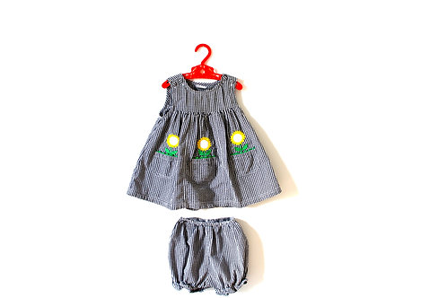 Vintage Sunflower Top and Bloomer Shorts 2-3 Years