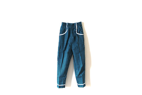 Vintage 1960's Dogtooth Blue Trousers Age 3-4