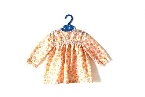Vintage Pink 1970's Pink Floral Dress 12-18 Months