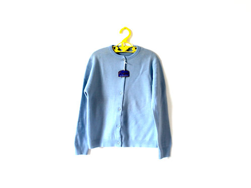 Vintage French 1970's Pale Blue Cardigan