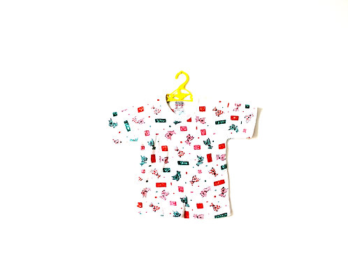 Vintage 1960's Towelling T-shirt Puppies 6 Years