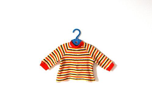 Vintage 1960's Orange Towelling Baby Top 3 Months