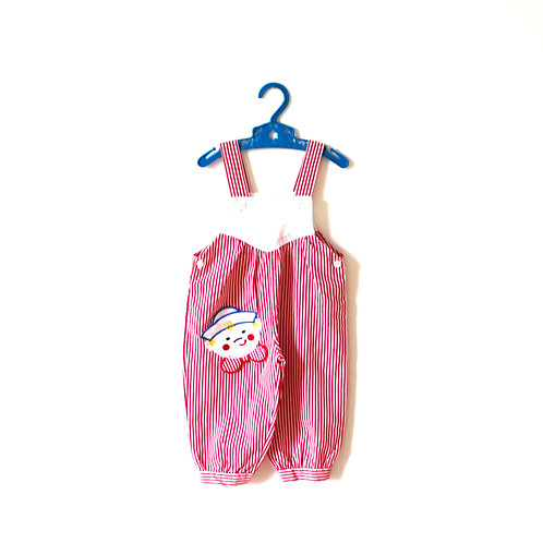 Vintage Red Sailor 1960's Dungarees 12 Months