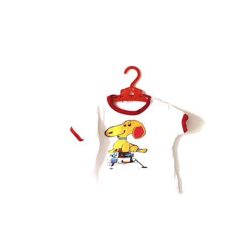 Vintage 1970's Children's Snoopy Kitsch T-shirt 12 Months