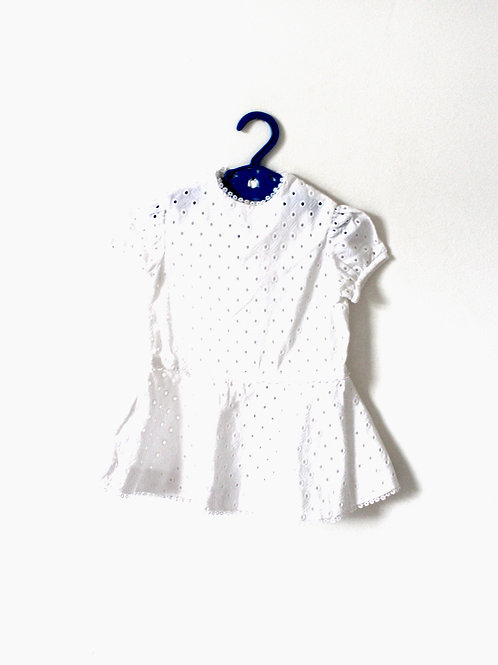 Vintage French 1960's White Lace Dress 12-18 Months