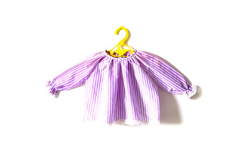 Vintage 1970's Purple Striped Baby Girls Blouse 6 Months