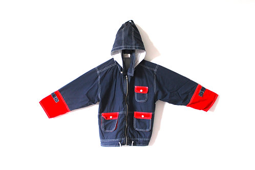 Vintage Boys Blue and Red Lightweight Coat 5-6 Years
