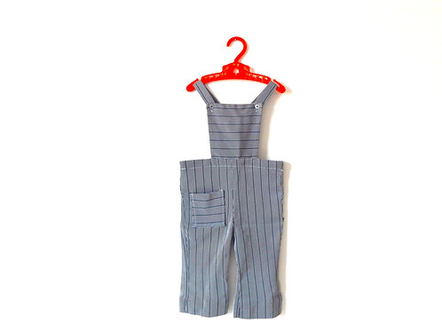 Vintage 60's Pinstripe Dungarees 2-3 Years