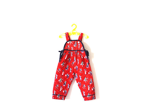 Vintage Clothkits Quilted 1970's Children Dungarees 18 Months