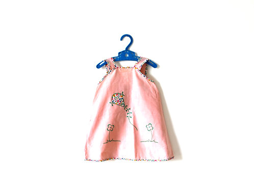 Vintage 1960's Pink Kite Summer Dress 2-3 Years