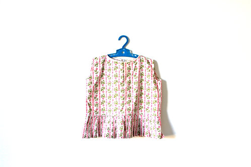 Vintage Floral Pink 1950's Summer Top 4-5 Years