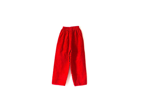 Vintage Red Thick Cord Trousers 4-5 Years