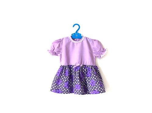 Vintage Lilac Floral 1960's Dress 2-3 Years