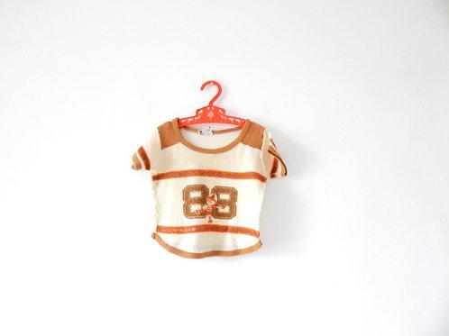 Vintage Boys Baseball Towelling T-shirt 12 Months