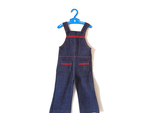 Vintage 70's Dungarees with Red Trim 3 Years