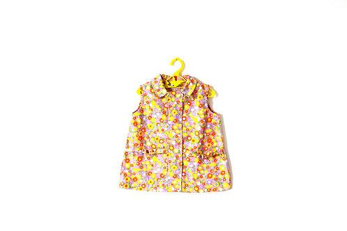 Vintage 1960's Mod Shift Flower Dress Spring Summer 1-2 Years