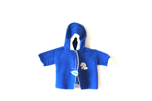 Vintage Dog Kitsch Blue Thin Fleece Jacket 12-18 Months