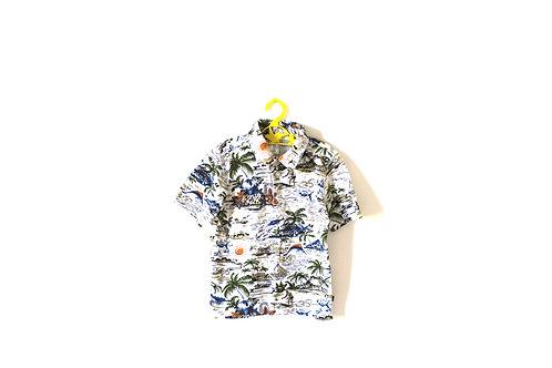 Vintage Palm Tree Cotton Polo Shirt 4-5 Years