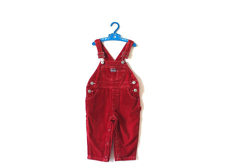 Vintage Red Cord Dungarees 3-4 Years