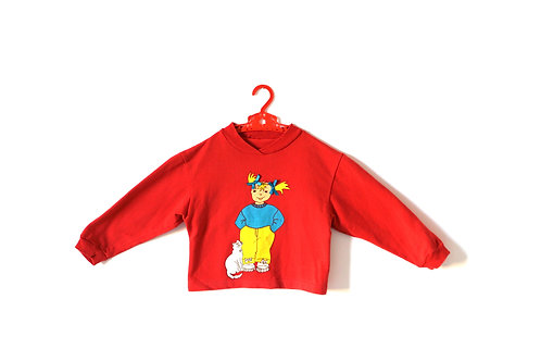 Vintage Red Girl and Cat Tracksuit/Pj's 4-5 Years