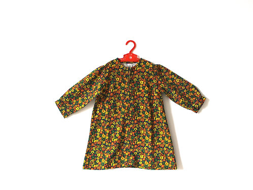 Vintage Corduroy Floral 1970's Dress 4 Years