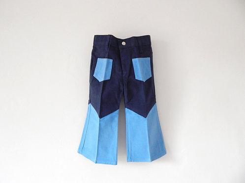 Vintage Children's 1970s Flares Denim Blue 2-3 Yrs