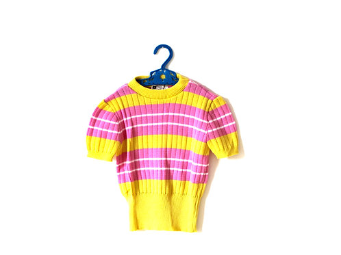 Vintage Girls Mod 60's Knitted Top 4-5 Years