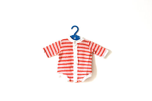 Vintage 1960's Towelling Striped Bodysuit 3 Months