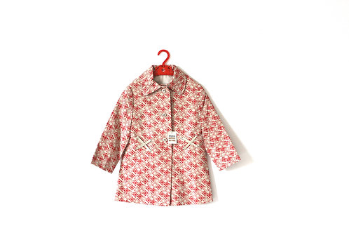 Vintage 1960's Girls Patterned Spring Summer Coat 5-6 Years