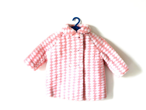 Vintage Girls Pink Fur 1950's Coat 4-5 Years