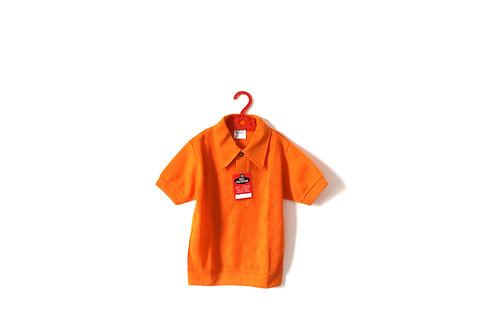 Vintage Orange Summer 1970's Polo Shirt 6 Years