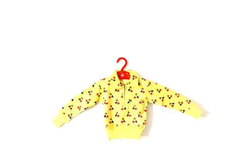Vintage Horse Yellow Jumper Collar 12 Months