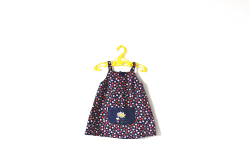 Vintage Summer Strap Flower Dress Kitsch 12 Months