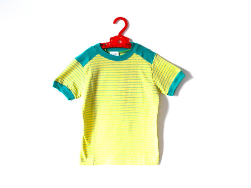 Vintage 1960's Green Striped T-shirt 4-5 Years