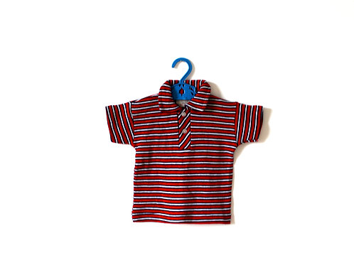 Vintage 1950's Red and White Striped Polo Top 1-2 Years