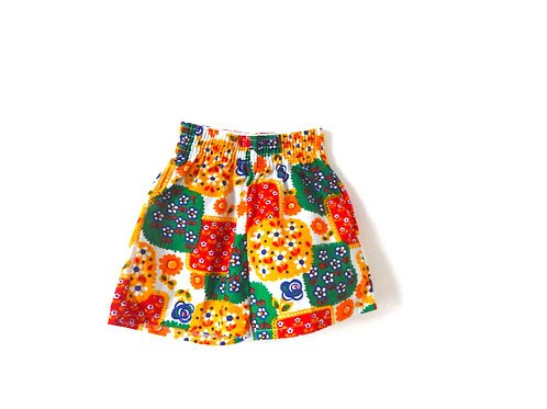 Vintage Yellow Floral Summer Shorts 12-18 Months