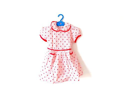 Vintage Girls Red Spot Summer Tea Dress 3 Years