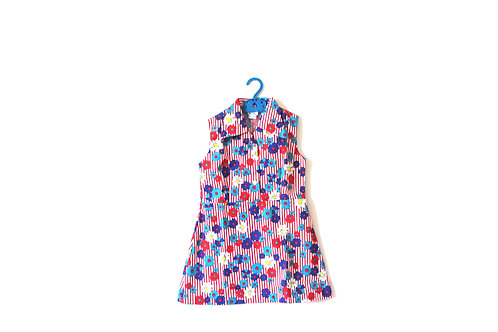 Vintage 1960's Floral Children's Girls Summer Dress