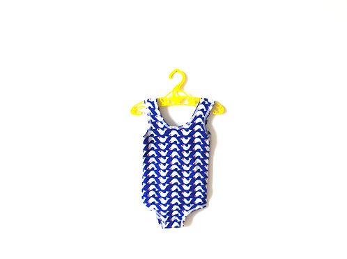 Vintage 1970's Patterned Fish Swimsuit 2-3 Years