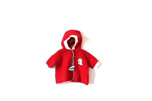 Vintage 1960's Poodle Red Jacket 9-12 Months