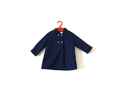 Vintage 1960's Blue Summer Coat 2 Years