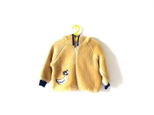 Vintage Flurry Yellow Chick Jacket with Hood 2 Years