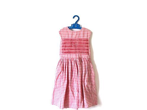 Vintage 1960's Pink Gingham Dress 5-6 Years