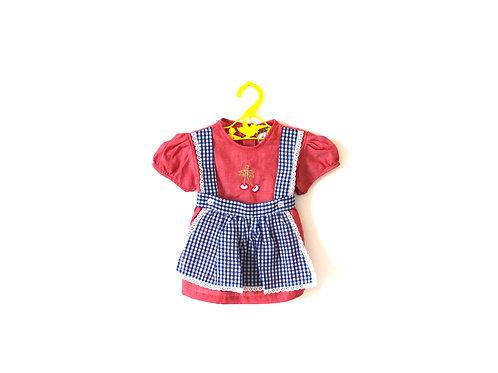 Vintage Cherry 1950's Girls Dress 6 Months