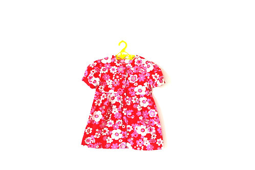 Vintage Pink Floral 1960's Dress 5-6 Years