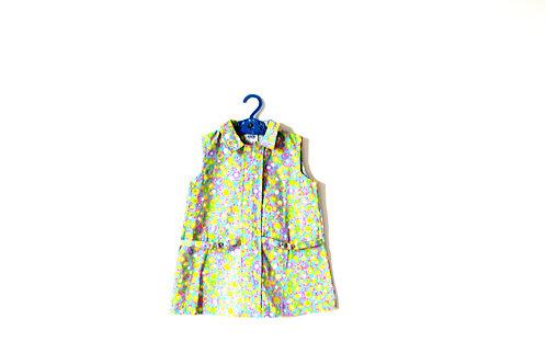 Vintage Spring Summer 1960's Girls Flower Pastel Dress 3-4 Years