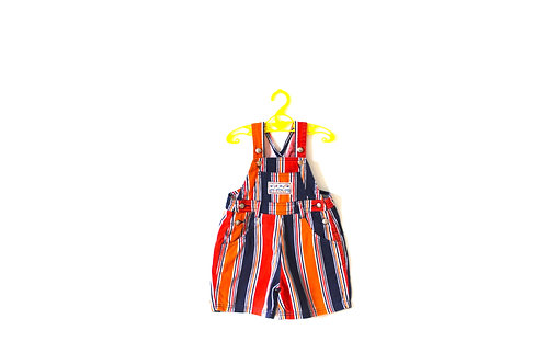 Vintage Stripe Pirate Short Dungarees 12 Months