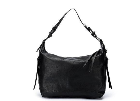 Black Caviar Ebony - Black 3 piece shoulder bag in vegan leather